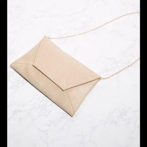 PLT Nude Envelope clutch